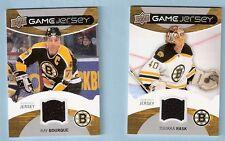 2012-13 Upper Deck UD Game Jersey - Ray Bourque + Tuukka Rask (Bruins)