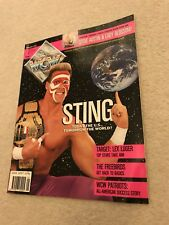 ** WCW NWA officiel wrestling Magazine Sting Lex Luger 1992 **