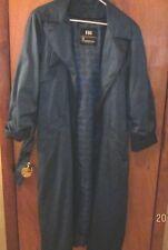 Women's London Fog 8 pet. Trench Rain Coat 75% POLYESTER, FLORAL & LAVENDER/GRAY