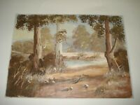 """H BURNS OIL PAINTING LANDSCAPE ON CANVAS 16.5"""" X 12.5"""" FREE POSTAGE"""