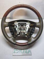 2003-2006 Acura MDX Factory Optional Wood Steering Wheel Brown Rare OEM JDM