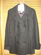 WOMEN'S LINED COAT BLACK SIZE M DELIA'S DRY CLEANED dELiA*s EXCELLENT COND