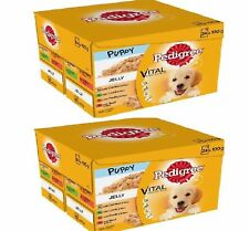 Pedigree Puppy Pouches x 48 - 100g (24 pack x2) - Jelly Dog Feed Pet Food