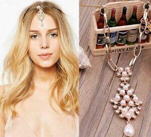 Rhinestone Pearl  Headpiece Jewellery Head Chain Hair clip Headdress Accessories