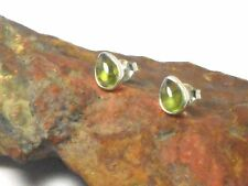 PERIDOT   Sterling  Silver  925  Gemstone  Earrings / STUDS  -  Gift  Boxed