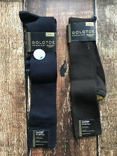 GOLD TOE CAELISLE OVER THE CALF DRESS SOCK 2 PACK BROWN BLUE NEW 786888254383