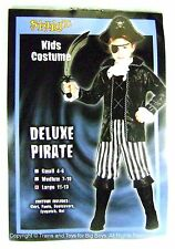 DELUXE PIRATE HALLOWEEN COSTUME LARGE 11-13 Kids Boys Pirates Shirt Pants New I