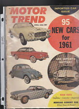 Motor Trend Magazine April 1961 95 New Cars for 1961 Cadillac LIncoln Imperial
