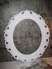 Decoración De Pared bilderrrahmen Blanco Marco espejo 58x68 Barroco Antiguo Oval