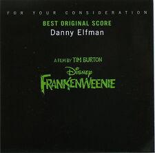 FRANKENWEENIE 2012 DISNEY Promo Only SCORE CD DANNY ELFMAN Oscar Consideration