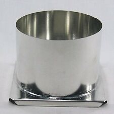 Round Pillar Metal Candle Mold (6 inches x 4-1/2 inches) 3-wick holes