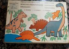Vintage Dinosaur Prehistoric Monsters Metal Cookie Cutters Set of 6 Made USA