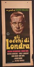 Locandina GLI OCCHI DI LONDRA 1961 RARA!! JOACHIM FUCHSBERGER, KLAUS KINSKI