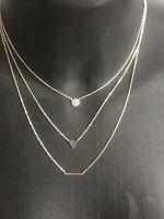 Collier en argent massif 925 lune et étoile avec zirconiumThanina bijoux neuf