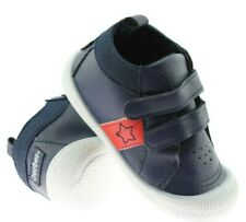 Baby Boys Gerber Casual Trainers Shoes Toddler Touch Strap Soft Flexible Blue SZ