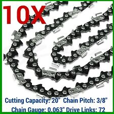 10X Chainsaw Chain 3/8 063 72DL For STIHL MS311 MS362 MS362C-M MS381 MS391 MS461