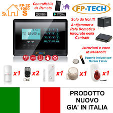 ANTIFURTO ALLARME TOUCH SCREEN CASA KIT COMBINATORE GSM WIRELESS CON SIRENA W03