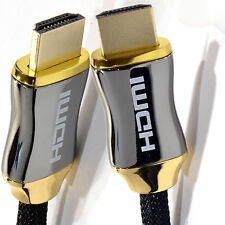 3m Braided Ultra HD HDMI Cable v2.0 High Speed + Ethernet HDTV 2160p 4K 3D GOLD
