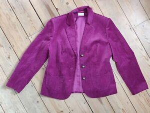 Size 38 UK12 Gorgeous Dark Pink Velvet Jacket by Sommerman
