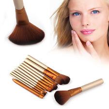 Pro Makeup Brushes 12pcs Eyeshadow Set Powder Foundation Lip Cosmetics Tools