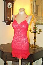 SEXY & SWEET VICTORIA'S SECRET MAGENTA PINK LACE NET LINGERIE GOWN / S