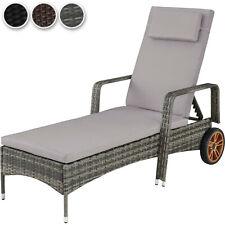 vidaXL Liegestuhl Klappbar Grau Textilene Hochlehner Gartenliege Relaxliege