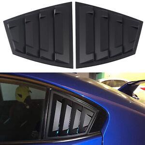 Matte Black Rear Window Louver Shutter Cover For Subaru WRX / WRX STI 2015-2020
