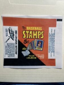 1969 Topps Baseball Stamps Wax Wrapper Print