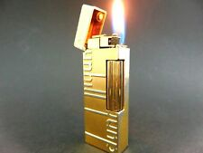 "ALFRED DUNHILL"" GOLD DUNHILL-Design Rollagas Lighter VINTAGE SWISS"