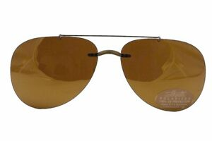 Silhouette Sunglasses 5090 0102 B2 Brown Polarized Clip-On 62x15mm