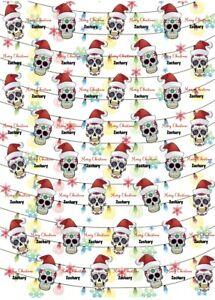 Personalised Sugar Skull Christmas Wrapping Paper.