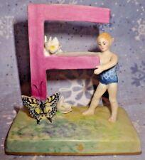 "Royal Doulton Artist Peggy Davies Alphabet figurine MEGA Rare Prototype ""F"" MINT"