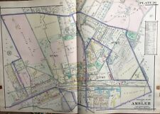 1916 Montgomery Co., North Pa, Ambler, Trinity Memorial Church, Copy Atlas Map