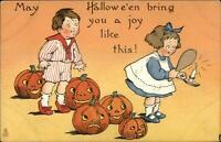 Halloween TUCK Series 188 Boy Girl Mirror JOLs c1910 Postcard