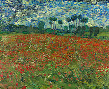 Vincent van Gogh - Poppy field Canvas Print