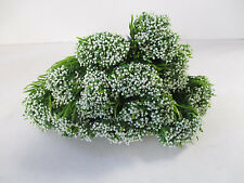 Pack of 12 Artificial Gypsophila Bushes - 40 cm - 5 Stems Per Flowering Plant