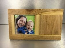 Personalised Oak Wood Photo Frame with free message engraved