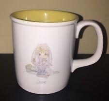 Vintage 1987 Precious Moments June Bride Coffee Mug Cup Wedding Bride