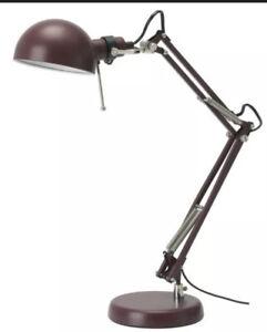 Forsa Retro Classic Angled Style Desk Work Lamp Home Office Bedside Burgundy