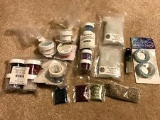 Huge Mixed Lot - embossing powder, glitter, glass beads, tape, etc Stampin' Up!