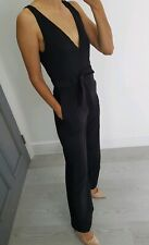 ASOS Oh my Love black V neck jumpsuit with pockets size S