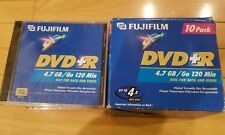 10 Pack Fujifilm DVD-R Recordable 4.7GB 120 Min Discs for Data and Video