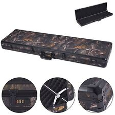 "49"" Gun Case Long Aluminum Locking Rifle Lock Shotgun Storage Box Carry Camo US"