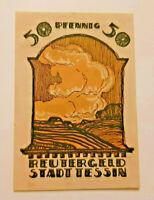 TESSIN REUTERGELD NOTGELD 50 PFENNIG 1922 NOTGELDSCHEIN (10814)