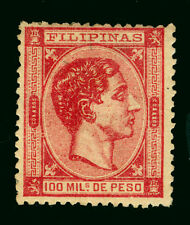 Spanish PHILIPPINES 1879  King ALFONSO XII   100m carmine  Sc# 66 mint MH