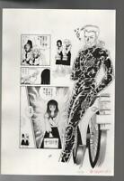 z361w Kage ni Obiete Original Japanese Manga Comic Art Page Horror Story