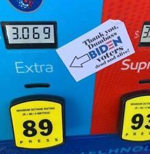Funny Political Sticker Biden Trump Gas Prices Vinyl Decal Socialist Fuel Pump
