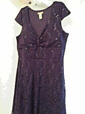 Very nice and flattering Sequin/Lace Dark Blue Party Dress Size 18W