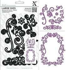 DOCRAFTS XCUT LARGE CUTTING DIES FLORAL FLOURISHES MAKE BORDERS - NEW