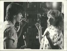 1986 Press Photo Actors simulate smoking marijuana in TV special, The Drug Knot.